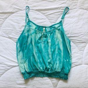 DNA Couture - Aqua Blue Tie Dye top